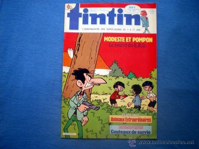 REVISTA TINTIN EN FRANCES Nº 20 1987 AÑO 42 NIKY CUBITUS CRO-MAGNON ED. LOMBARD (Tebeos y Comics - Comics Lengua Extranjera - Comics Europeos)
