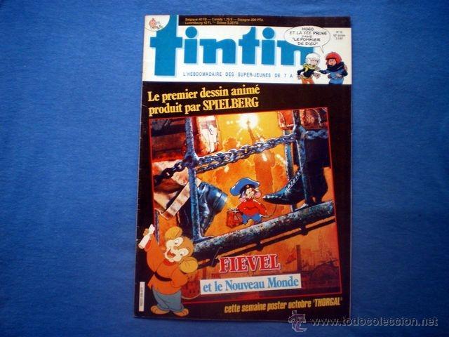 REVISTA TINTIN EN FRANCES Nº 10 1987 AÑO 42 WILLIAM LAPOIRE CLIN D'OEIL THORGAL ED. LOMBARD (Tebeos y Comics - Comics Lengua Extranjera - Comics Europeos)