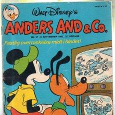 Cómics: WALT DISNEY'S Nº 37. ANDERS AND & Cº. 8 SEPTEMBER 1980.. Lote 41686149