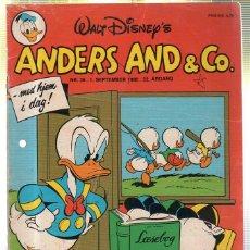 Cómics: WALT DISNEY'S Nº 36. ANDERS AND & Cº. 1 SEPTEMBER 1980.. Lote 41686171