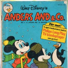 Cómics: WALT DISNEY'S Nº 3. ANDERS AND & Cº. 14. JANUAR 1980.. Lote 41686192