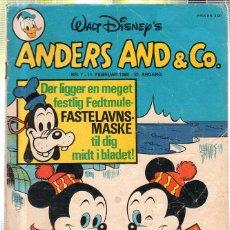 Cómics: WALT DISNEY'S Nº 7. ANDERS AND & Cº. 11 FEBRUAR 1980.. Lote 41686212