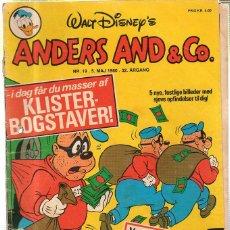 Cómics: WALT DISNEY'S Nº 19. ANDERS AND & Cº. 5 MAJ 1980.. Lote 41686256