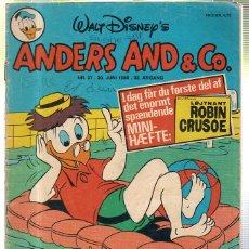 Cómics: WALT DISNEY'S Nº 27. ANDERS AND & Cº. 30 JUNI 1980.. Lote 41686268