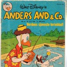 Cómics: WALT DISNEY'S Nº 31. ANDERS AND & Cº. 28 JULI 1980.. Lote 41686294