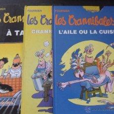 Cómics: LES CRANNIBALES. FOURNIER - ZIDROU. LOTE DE 3 COMICS EN FRANCES. DEPUIS. TAPA DURA. COLOR. 22 X 30 C. Lote 43618026