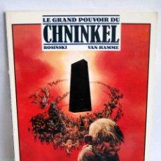 Cómics: LE GRAND POUVOIR DU CHNINKEL DE ROSINSKI VAN-HAMME LES ROMANS A SUIVRE CASTERMAN 166 PAGINA 1988. Lote 44055242