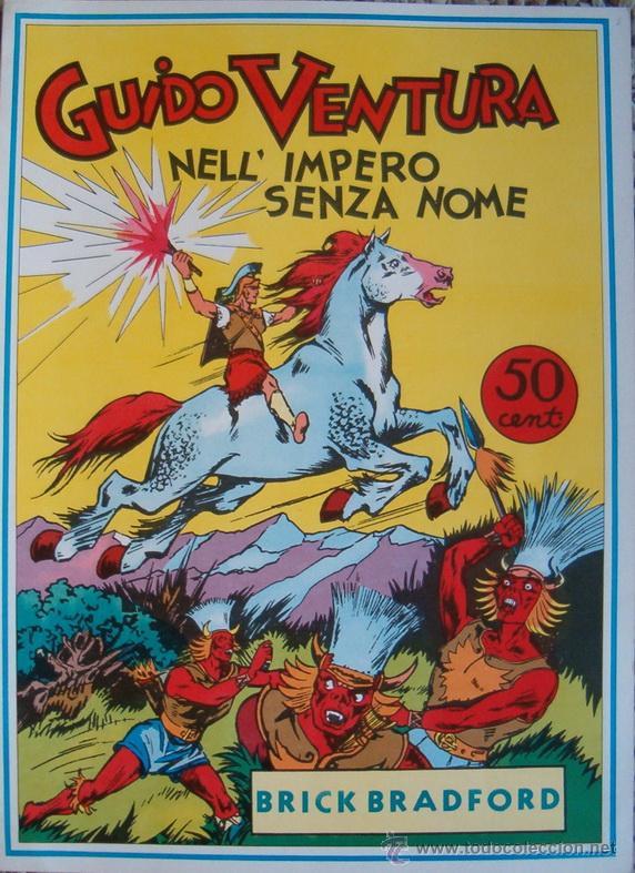 WILLIAM RITT, CLARENCE GRAY. BRICK BRADFORD AT THE MIDDLE OF THE EARTH. Nº 40. RM65996. (Tebeos y Comics - Comics Lengua Extranjera - Comics Europeos)