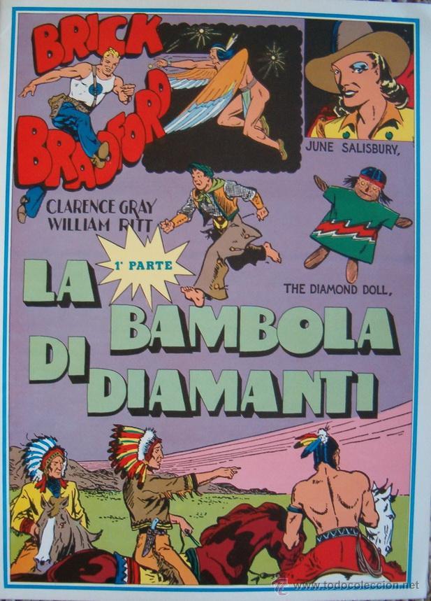 WILLIAM RITT, CLARENCE GRAY. BRICK BRADFORD: LA BAMBOLA DE DIAMANTI. 1ª PARTE. Nº 19. RM66004. (Tebeos y Comics - Comics Lengua Extranjera - Comics Europeos)
