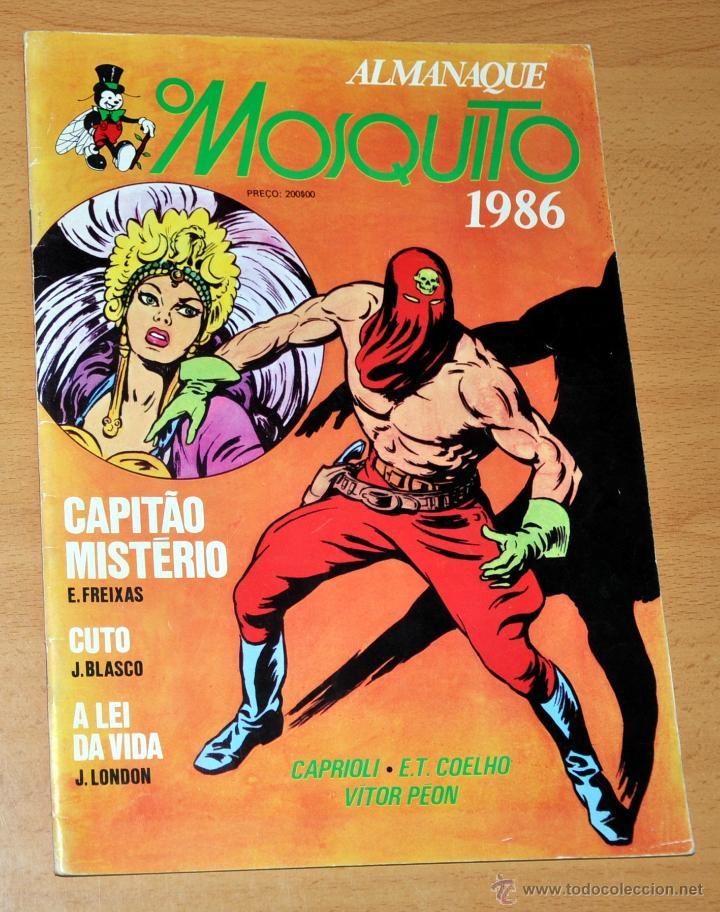 ALMANAQUE O MOSQUITO 1986 - CON CAPITÁN MISTERIO DE EMILIO FREIXAS Y CUTO DE JESÚS BLASCO - PORTUGAL (Tebeos y Comics - Comics Lengua Extranjera - Comics Europeos)