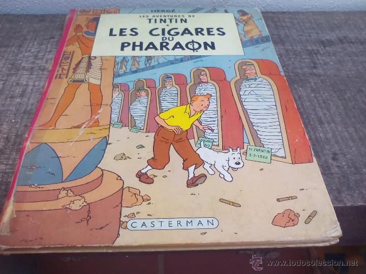 LES AVENTURES DE TINTIN. HERGÉ. LES CIGARES DU PHARAON.. CASTERMAN 1955. (Tebeos y Comics - Comics Lengua Extranjera - Comics Europeos)