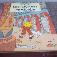 Cómics: LES AVENTURES DE TINTIN. HERGÉ. LES CIGARES DU PHARAON.. CASTERMAN 1955. . Lote 49371864