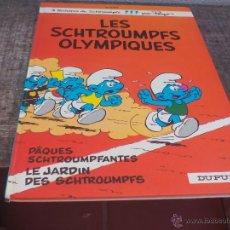 Cómics: LES SCHTROUMPFS OLYMPIQUES, PÂQUES SCHTROUMPFANTES LE JARDIN DES.PEYO DUPUIS 1983. LOS PITUFOS COMIC. Lote 49376602