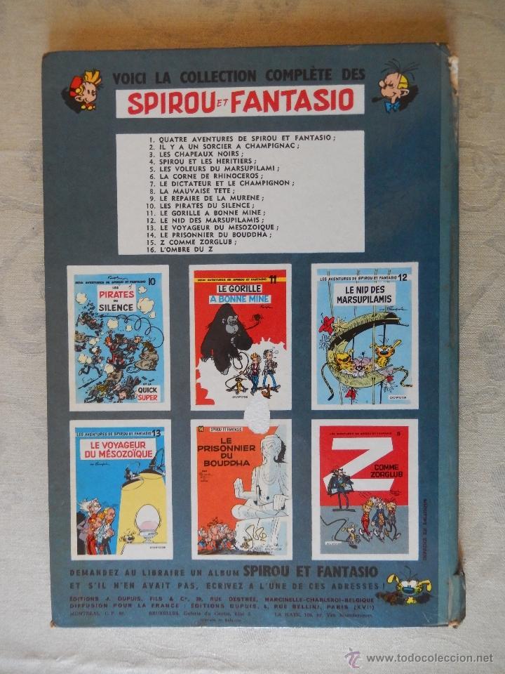 """Cómics: Les aventures de spirou et fantasio """"Lombre du Z"""" nº16, Dupuis, 1962 - Foto 2 - 49701858"""