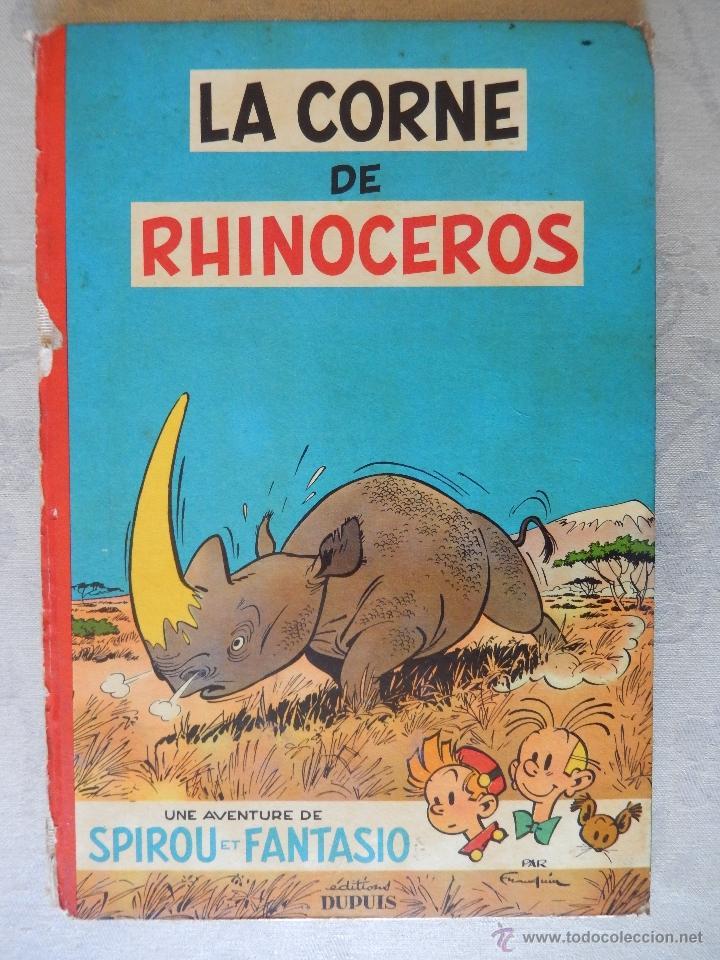 "UNE AVENTURE DE SPIROU ET FANTASIO ""LA CORNE DE RHINOCEROS"", DUPUIS 1955 (Tebeos y Comics - Comics Lengua Extranjera - Comics Europeos)"