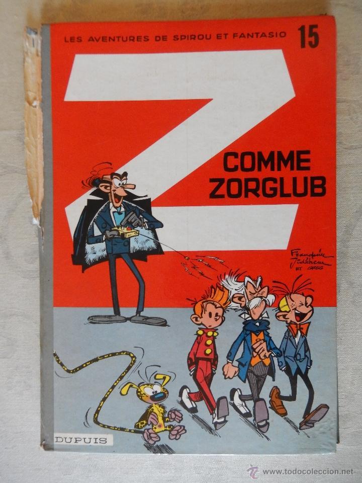 "LES AVENTURES DE SPIROU ET FANTASIO ""Z COMME ZORGLUB"" Nº15, DUPUIS, 1961 (Tebeos y Comics - Comics Lengua Extranjera - Comics Europeos)"