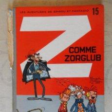 """Cómics: LES AVENTURES DE SPIROU ET FANTASIO """"Z COMME ZORGLUB"""" Nº15, DUPUIS, 1961. Lote 49701893"""