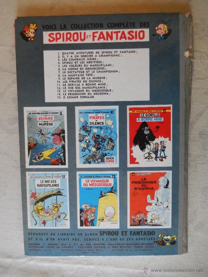 """Cómics: Les aventures de spirou et fantasio """"Z comme zorglub"""" nº15, Dupuis, 1961 - Foto 2 - 49701893"""
