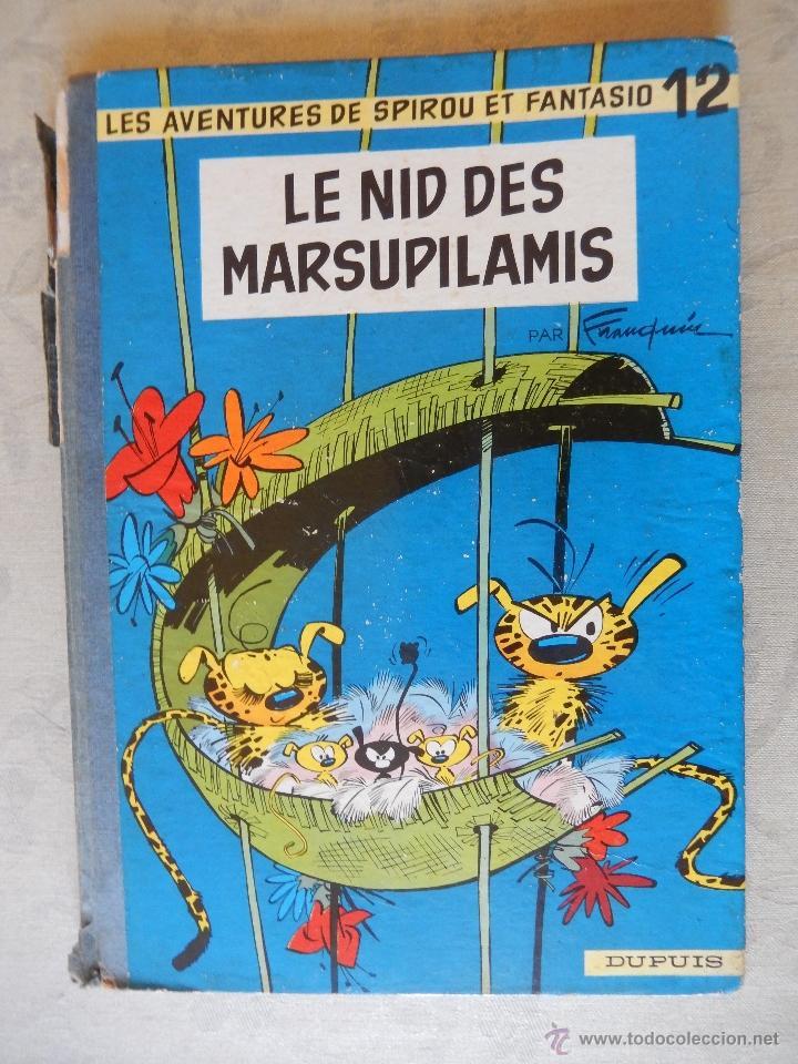"LES AVENTURES DE SPIROU ET FANTASIO ""LE NID DES MARSUPILAMIS"" Nº12, DUPUIS 1960 (Tebeos y Comics - Comics Lengua Extranjera - Comics Europeos)"