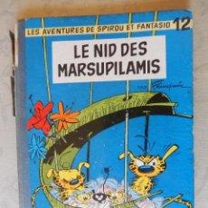 """Cómics: LES AVENTURES DE SPIROU ET FANTASIO """"LE NID DES MARSUPILAMIS"""" Nº12, DUPUIS 1960. Lote 49701912"""