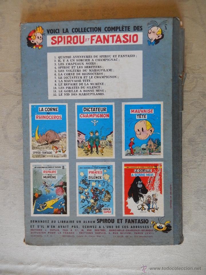 """Cómics: Les aventures de spirou et fantasio """"Le nid des marsupilamis"""" nº12, Dupuis 1960 - Foto 2 - 49701912"""