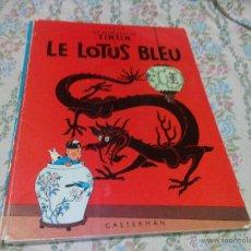 Cómics: TINTIN LE LOTUS BLEU CASTERMAN HERGÉ. 1946 . FRANCÉS.. Lote 50295519