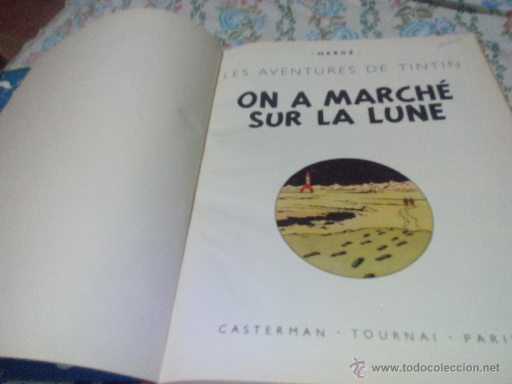 Cómics: TINTIN ON A MARCHE SUR LA LUNE Edition original B11/ 1954.collection hergé.casterman paris.frances - Foto 3 - 197264307