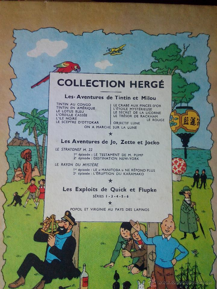 Cómics: TINTIN ON A MARCHE SUR LA LUNE Edition original B11/ 1954.collection hergé.casterman paris.frances - Foto 7 - 197264307
