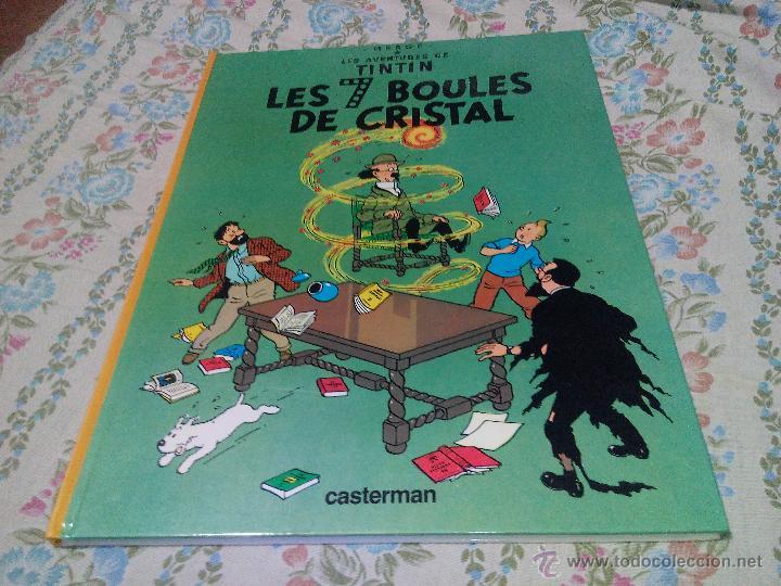 TINTIN LES 7 BOULES DE CRISTAL CASTERMAN 1975 FRANCÉS .HERGÉ (Tebeos y Comics - Comics Lengua Extranjera - Comics Europeos)