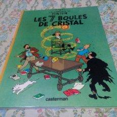 Cómics: TINTIN LES 7 BOULES DE CRISTAL CASTERMAN 1975 FRANCÉS .HERGÉ . Lote 50327018