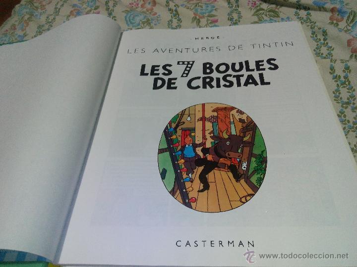 Cómics: TINTIN LES 7 BOULES DE CRISTAL CASTERMAN 1975 FRANCÉS .hergé - Foto 2 - 50327018