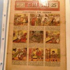 Cómics: LE CRI-CRI, TEBEO FRANCES, 18 OCTUBRE 1928. Lote 50799154