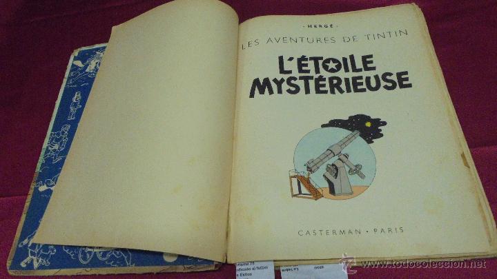 Cómics: LES AVENTURES DE TINTIN. L'ETOILE MYSTÉRIEUSE. ÉDITION CASTERMAN. 1955. EN FRANCÉS. - Foto 3 - 51447351