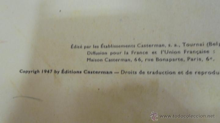 Cómics: LES AVENTURES DE TINTIN. L'ETOILE MYSTÉRIEUSE. ÉDITION CASTERMAN. 1955. EN FRANCÉS. - Foto 4 - 51447351