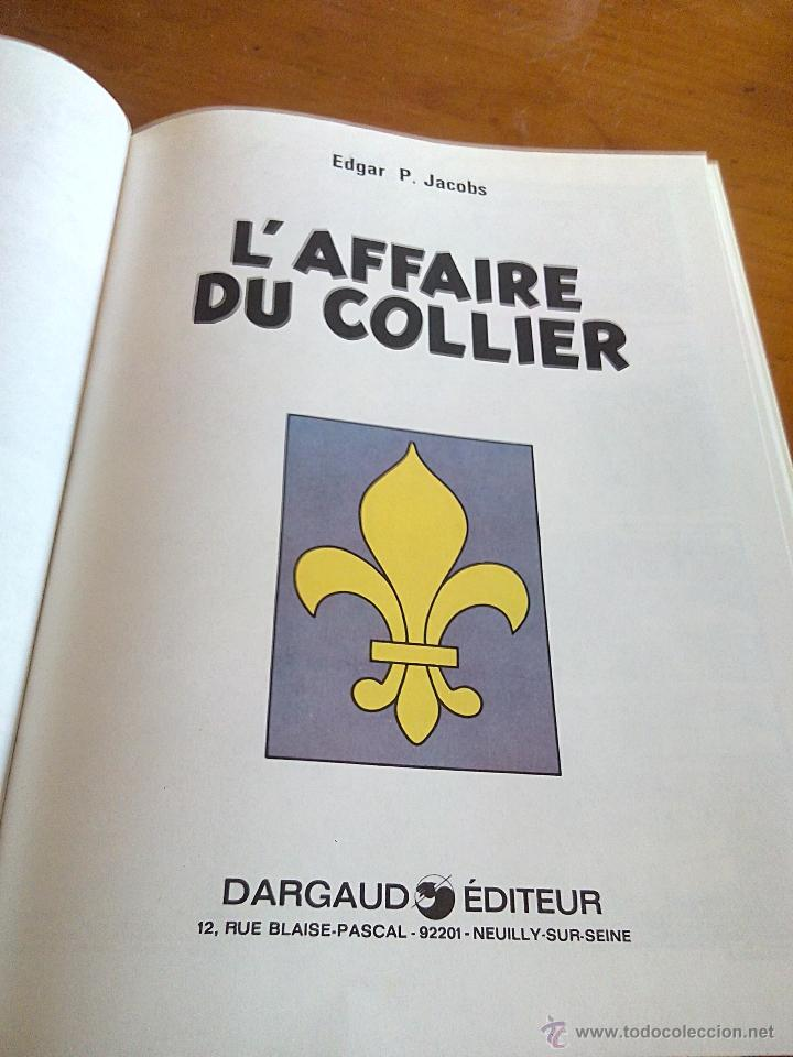 Cómics: l affaire du collier blake et mortimer. dargaud 1967.original. - Foto 3 - 52396178