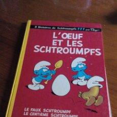 Cómics: LOS PITUFOS, PEYO LES SCHTROUMPFS 4E SÉRIE L´OEUF ET LES SCHTROUMPFS DUPUIS 1975. Lote 52415415