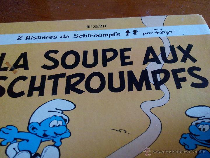 Cómics: LOS PITUFOS, PEYO LES SCHTROUMPFS 10E SÉRIE Ls soupe aux SCHTROUMPFS DUPUIS 1976 - Foto 2 - 52424930