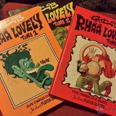 Cómics: REBAJADO GOTLIB, RHAA LOVELY, COMPLETA 1 AL 3 - COMIC FRANCES. Lote 53284946