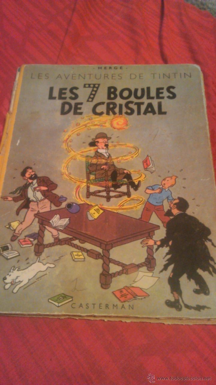 Cómics: tintin les 7 boules de cristal 1951 edition original.albums herge - Foto 2 - 53689483