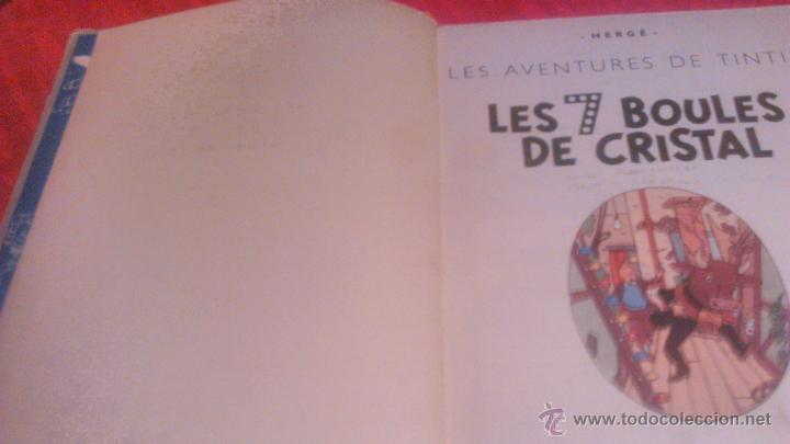 Cómics: tintin les 7 boules de cristal 1951 edition original.albums herge - Foto 8 - 53689483