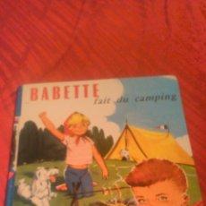 Cómics: BABETTE FAIT DU CAMPING 1963. ROUGE ET BLEUE. Lote 53689627