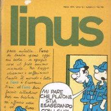 Cómics: LINUS 3 EDICIÓN ITALIANA 1976.. Lote 54041692