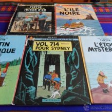 Cómics: TINTIN L'ÉTOILE MYSTÉRIEUSE VOL 714 POUR SYDNEY EN AMÉRIQUE L'ILE NOIRE MYSTÈRE TOISON D'OR. FRANCÉS. Lote 54250061
