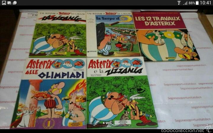 LOTE - 5 TOMOS - ASTÉRIX - DIFERENTES IDIOMAS (Tebeos y Comics - Comics Lengua Extranjera - Comics Europeos)