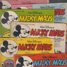 Cómics: MICKY MAUS LOTE 9 EJEMPLARES TEBEOS EN ALEMAN AÑOS 80. Lote 56099483