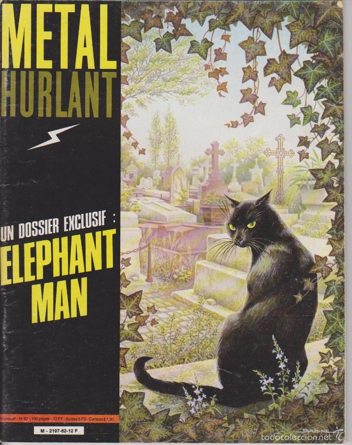 METAL HURLANT - EDICIÓN FRANCESA - NÚM. 62 - MARZO 1981 - HOMBRE ELEFANTE - JODOROWSKY - MOEBIUS (Tebeos y Comics - Comics Lengua Extranjera - Comics Europeos)