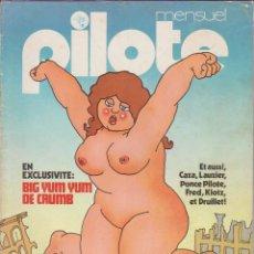 Cómics: PILOTE MENSUEL - NÚM. 10 - MARZO 1975 - CRUMB - CAZA - LAUZIER - PONCE PILOTE - FRED - KLOTZ. Lote 56540022