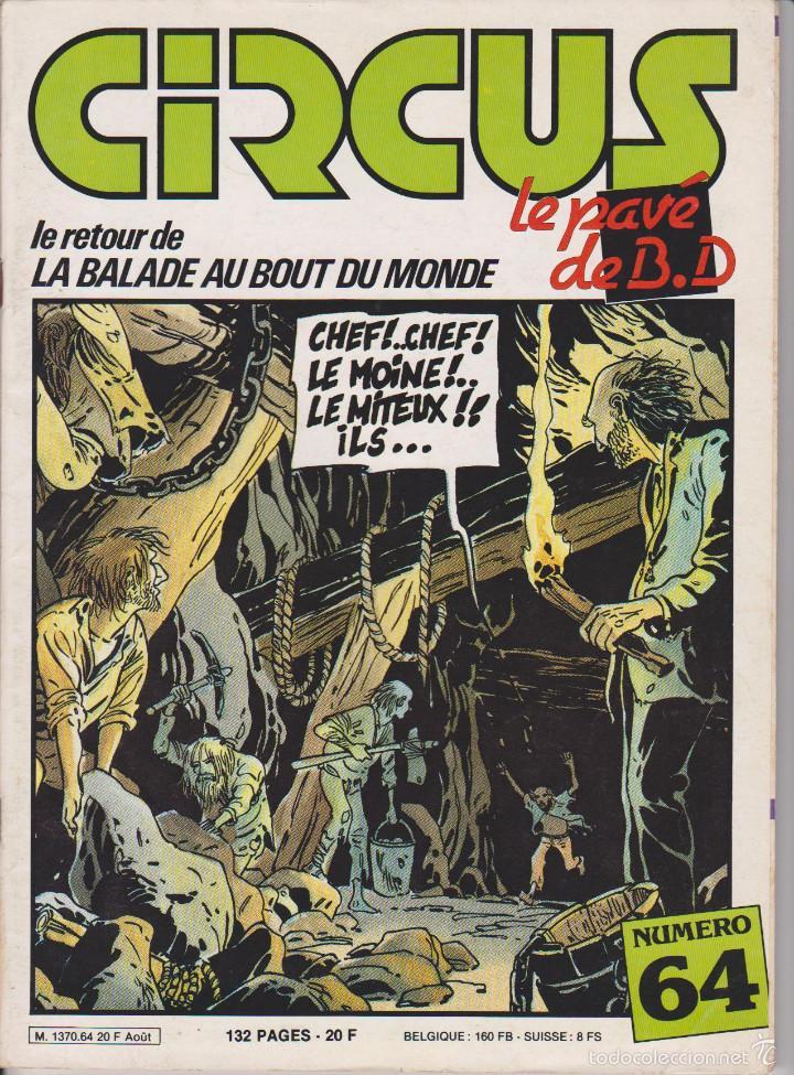 CIRCUS / LE PAVÉ - NÚM. 64 - AGOSTO 1983 - GLÉNAT - EDICIÓN FRANCESA (Tebeos y Comics - Comics Lengua Extranjera - Comics Europeos)