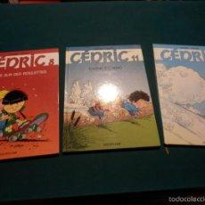 Cómics: CÉDRIC - Nº 2-8-11 - LOTE 3 COMICS EN FRANCÉS DE LAUDEC & CAUVIN - DUPUIS -TAPA DURA. Lote 57052816