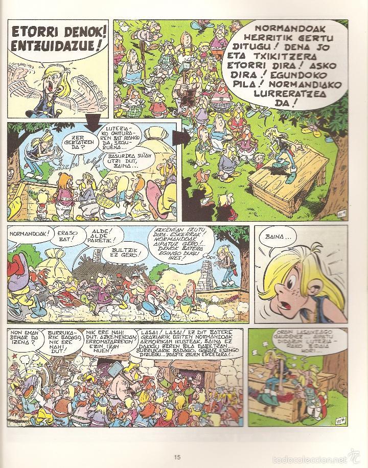 Cómics: ASTERIX ETA NORMANDOAK, EN EUSKERA, TAPA BLANDA, 1995 - Foto 2 - 57184084